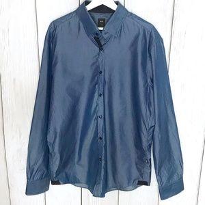 Hugo Boss Tailored Silk Blend Mens Button Shirt